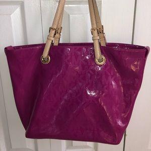 Fuchsia Michael Kors Tote Bag